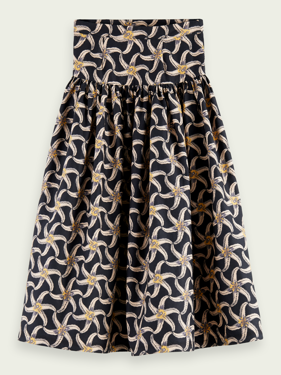 Women Printed voluminous tiered skirt