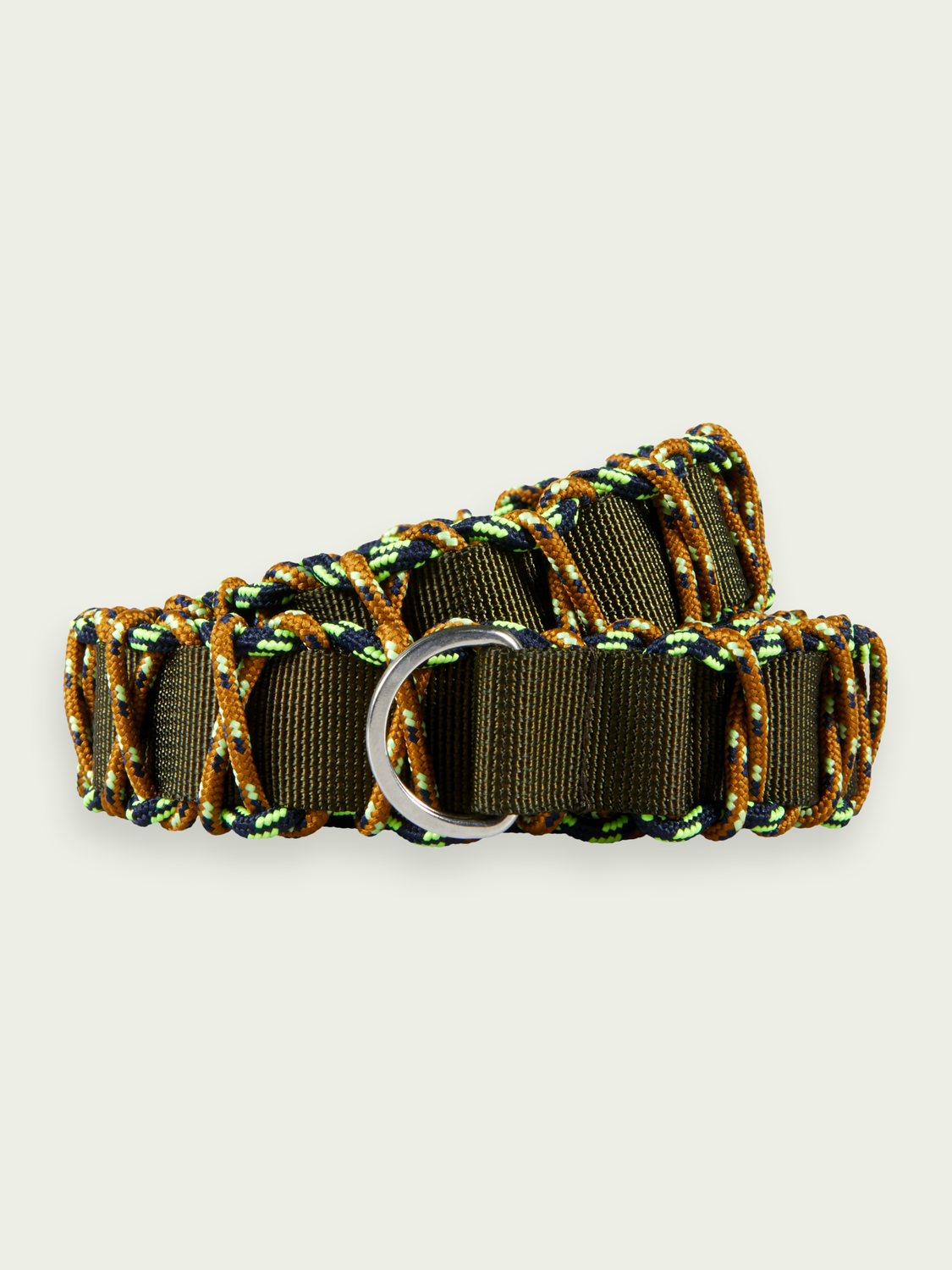 Men Braided military-style belt