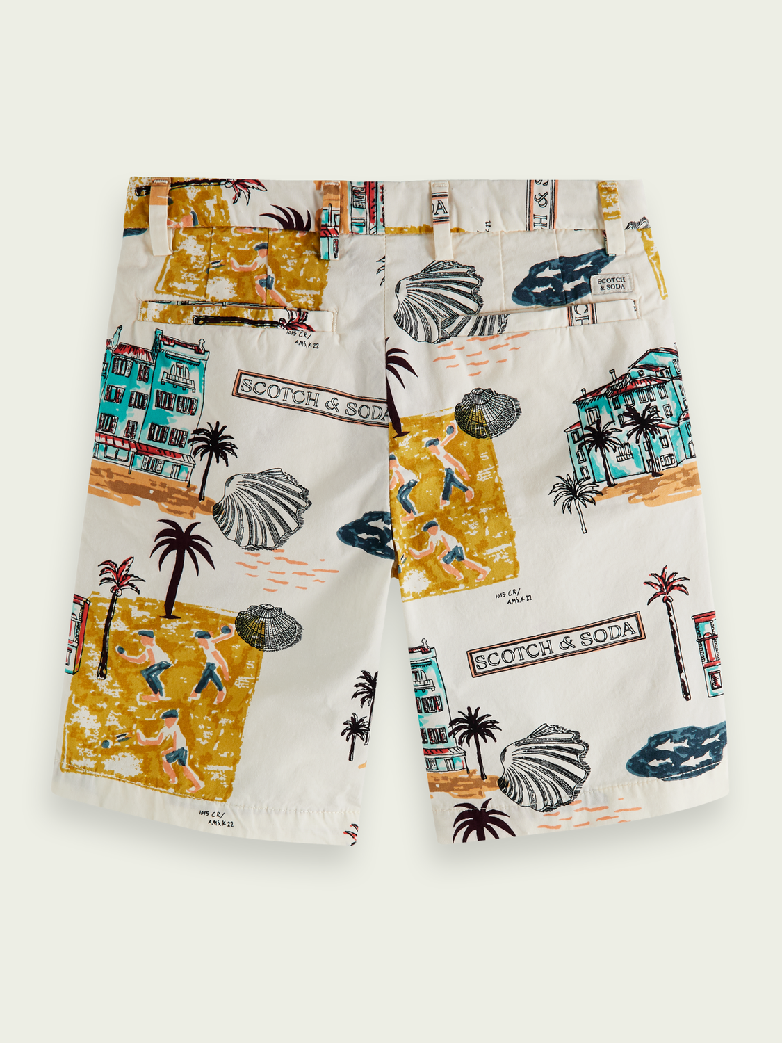 Kids Print cotton Bermuda shorts