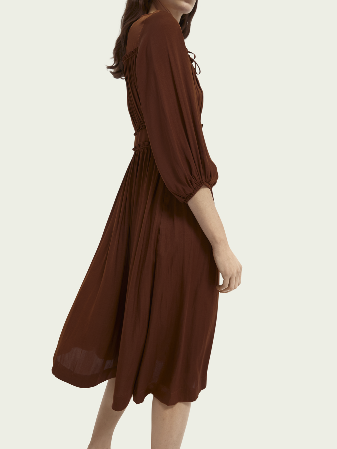 Women Ruffled midi-length dress