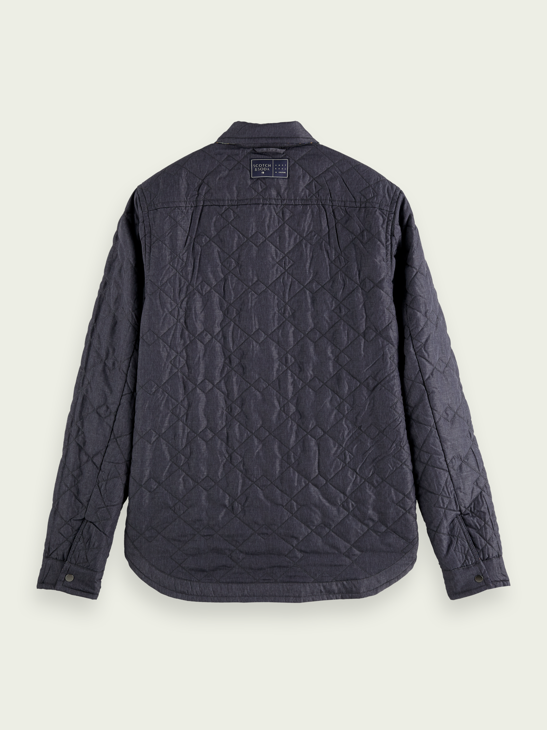 Men Reversible quilted shirt jacket