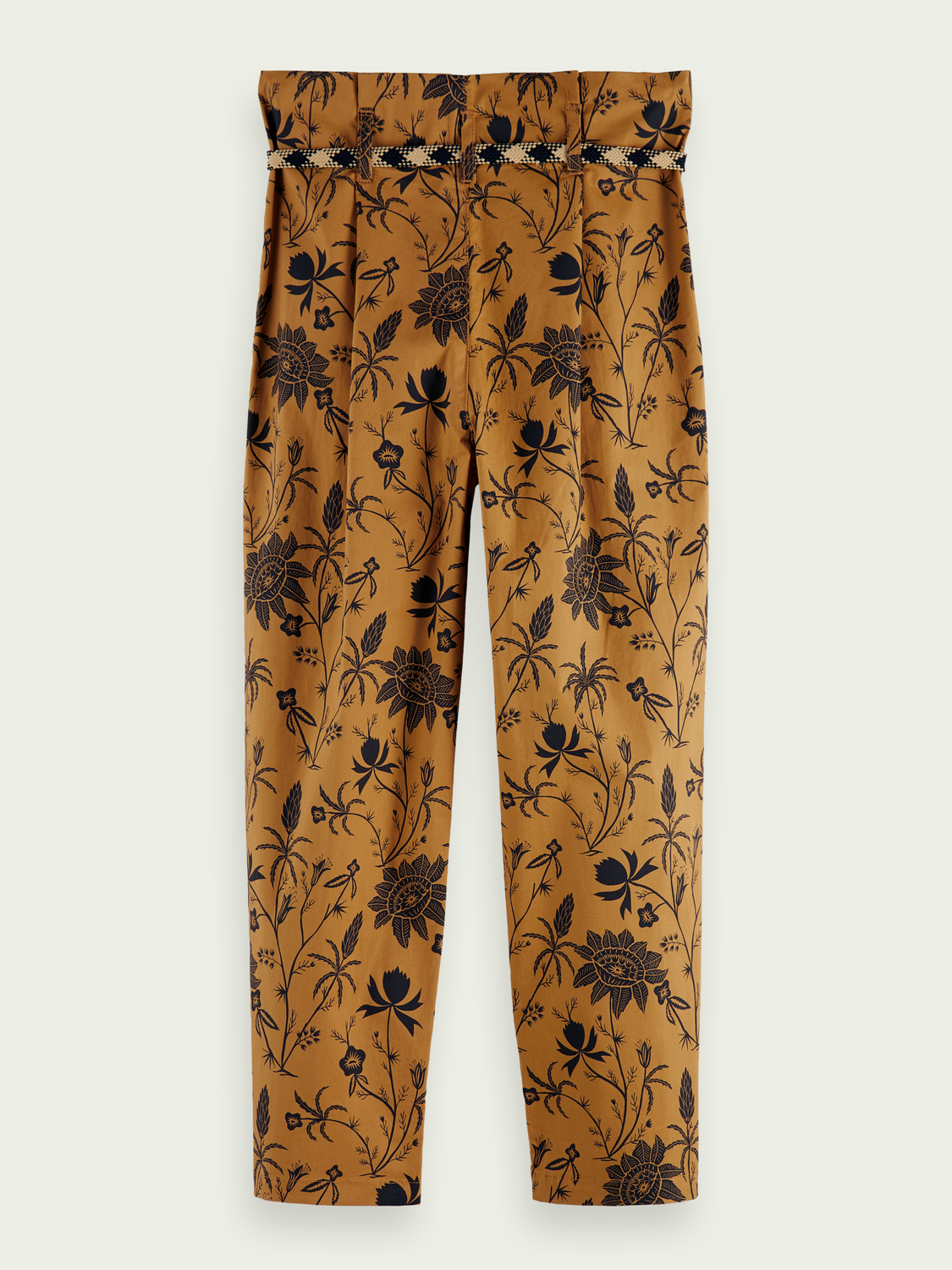 Kids Printed high-rise cargo trousers