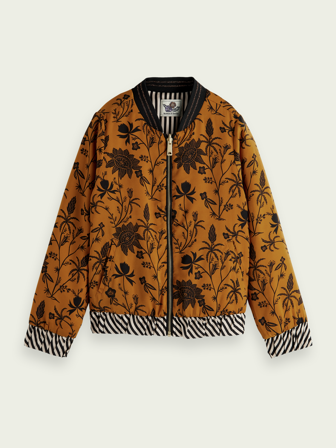 Kids Printed reversible bomber jacket