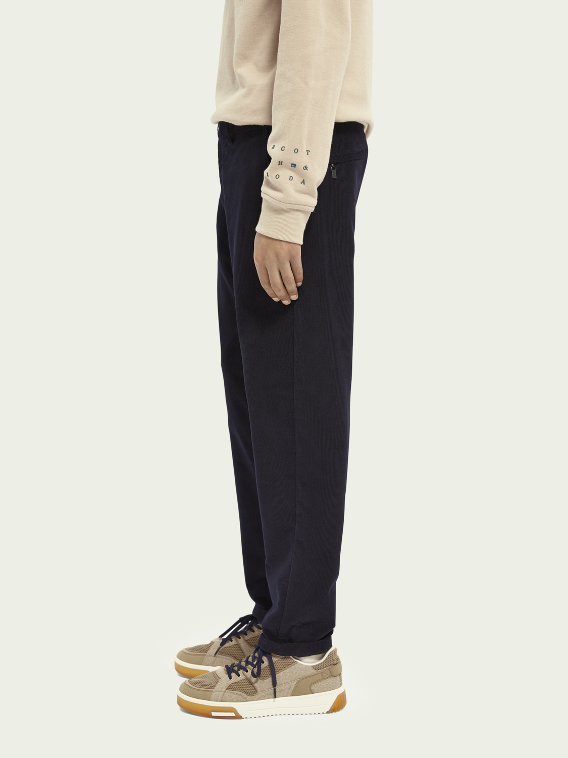 Men Dean loose tapered cotton-twill chino