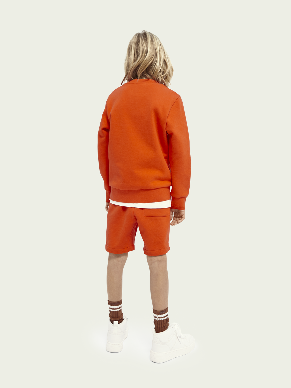 Kids Embroidered organic cotton sweat shorts