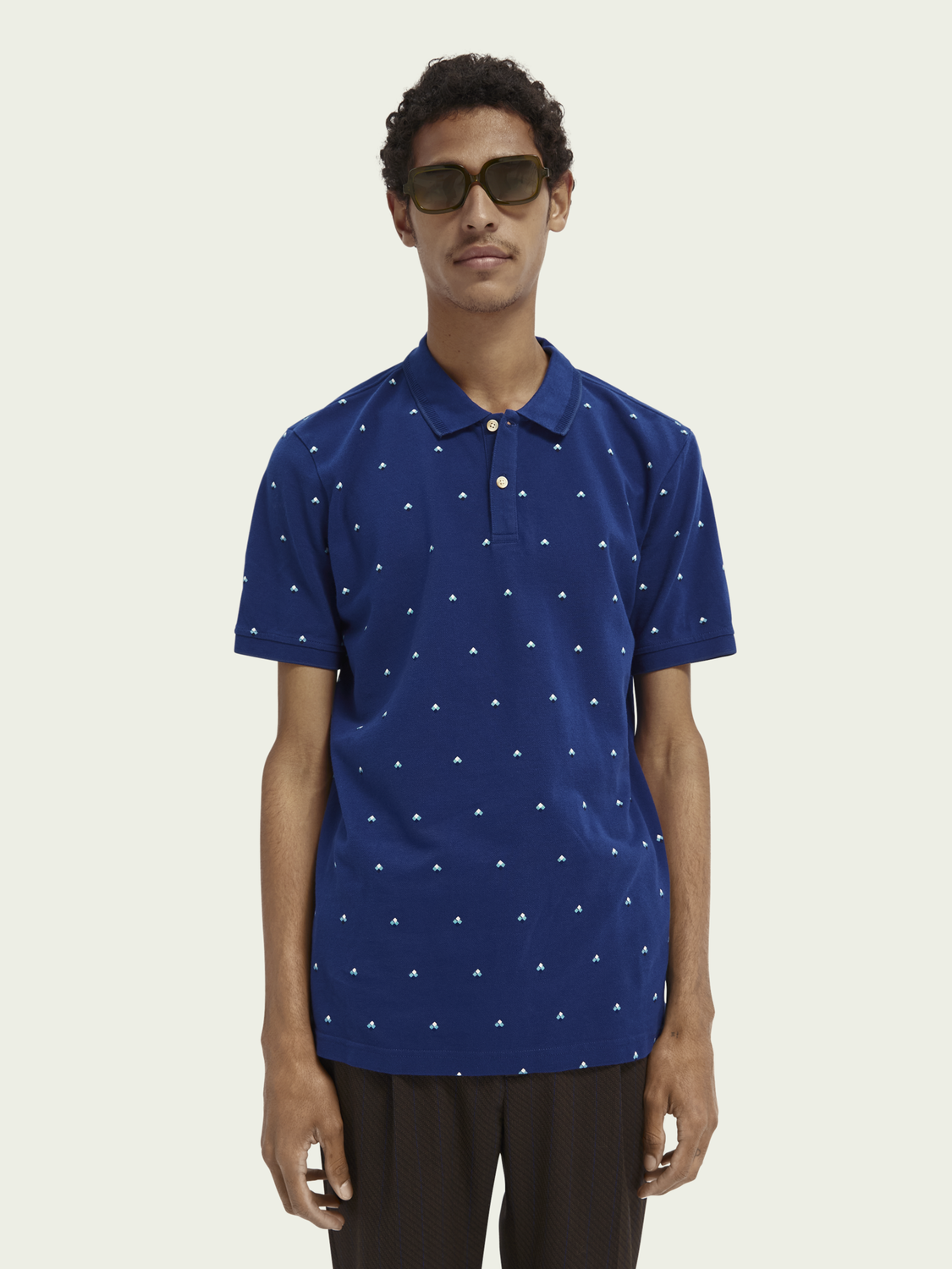 Men Print cotton polo shirt