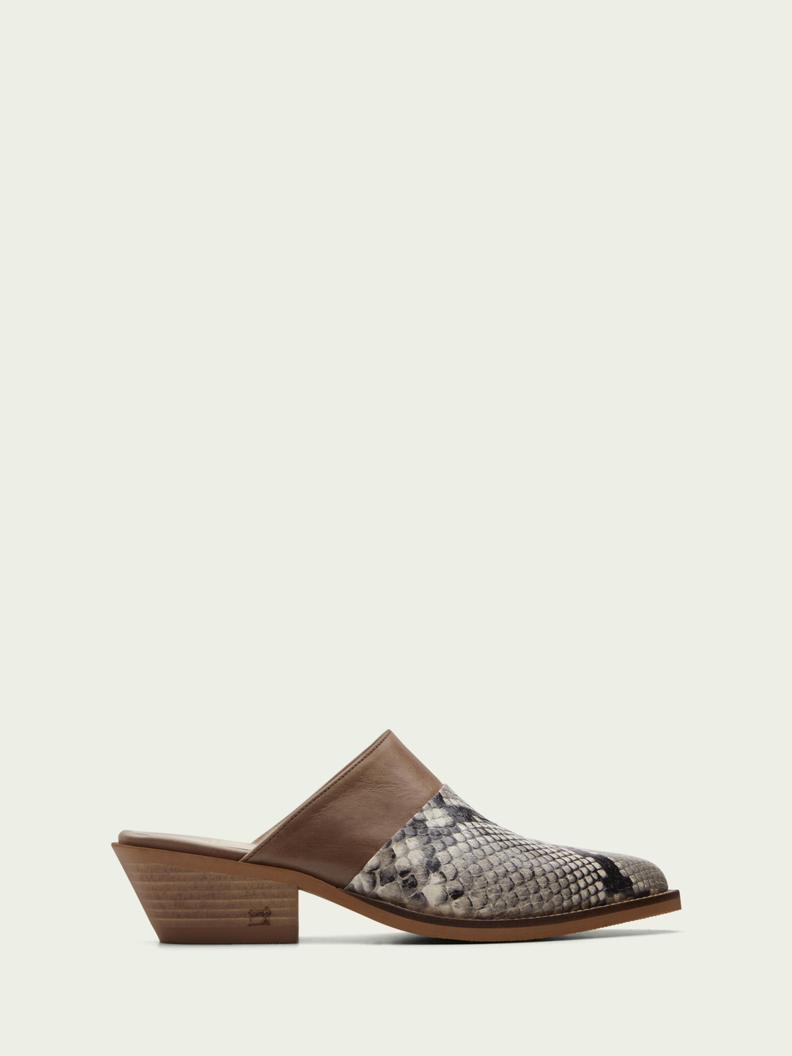 Women Corall leather mule