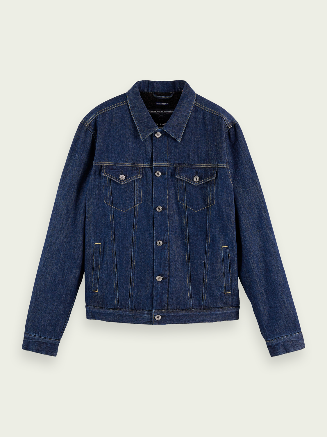 Men Denim jacket with teddy lining