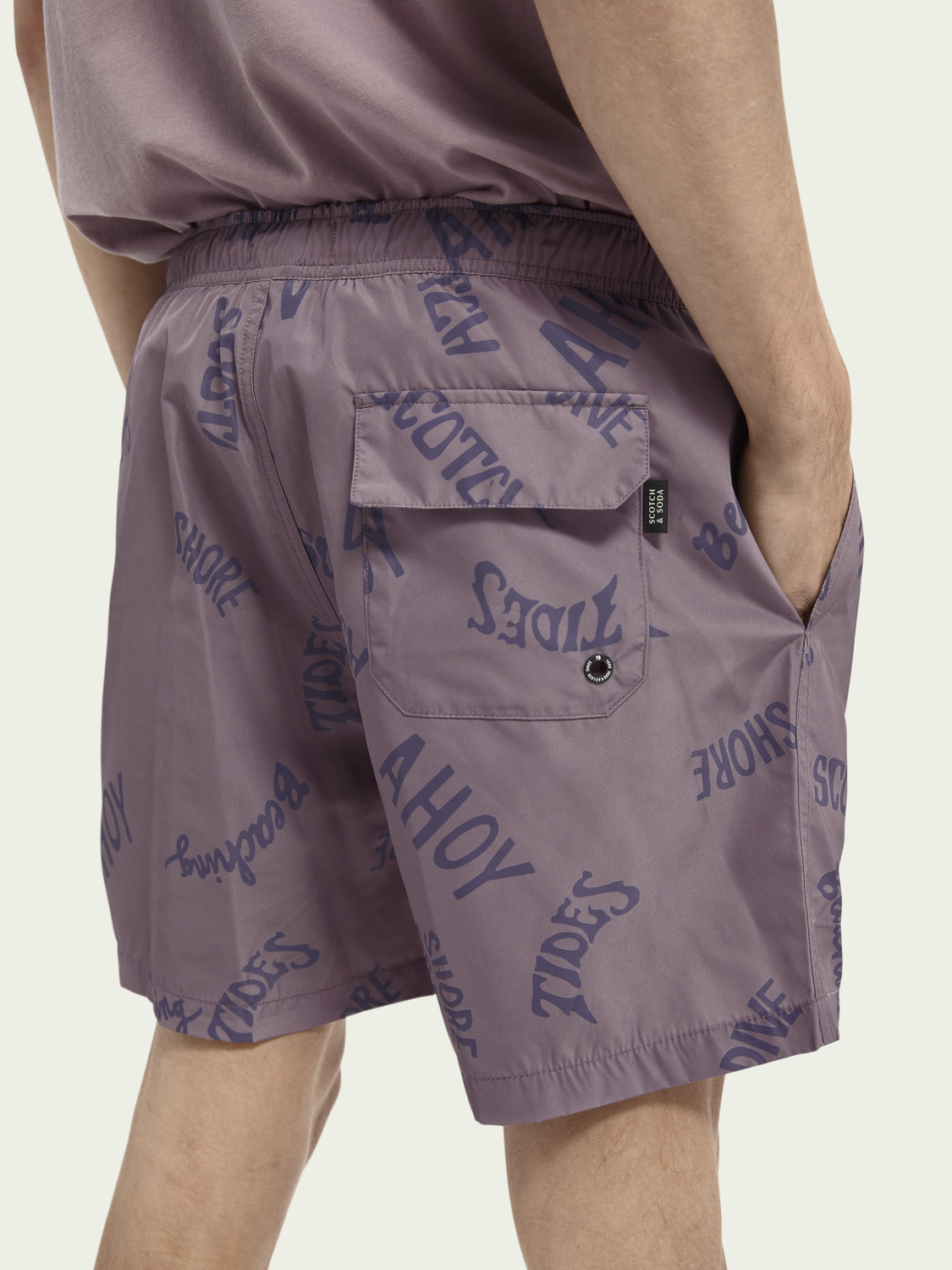 Men Printed recycled polyester swim shorts