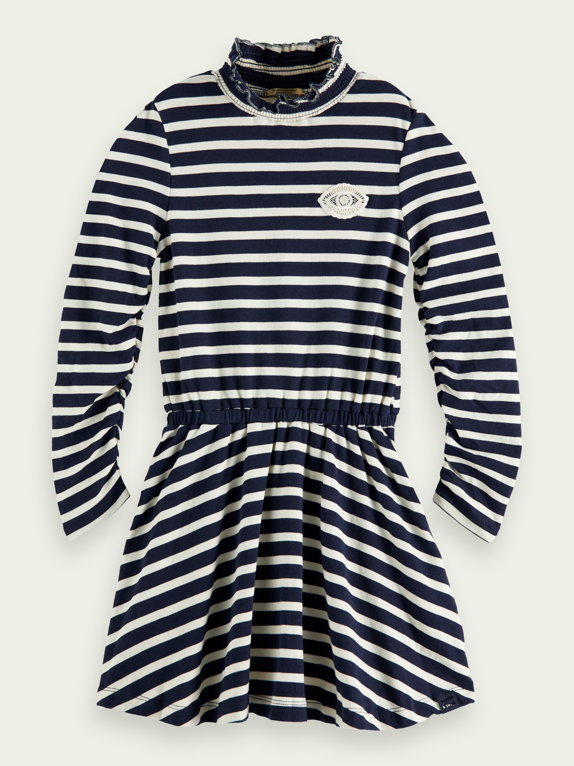 Kids Long-sleeved cotton jersey dress
