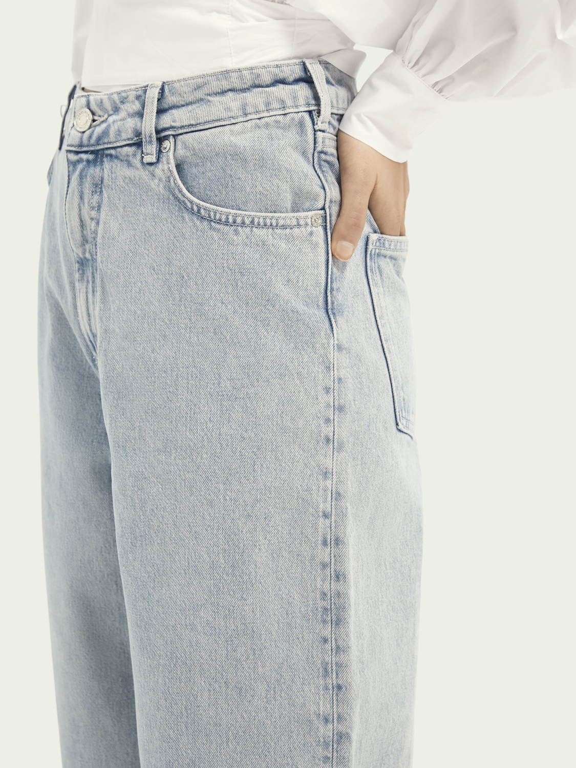 Women Balloon fit cotton jeans - Crystalized In Time