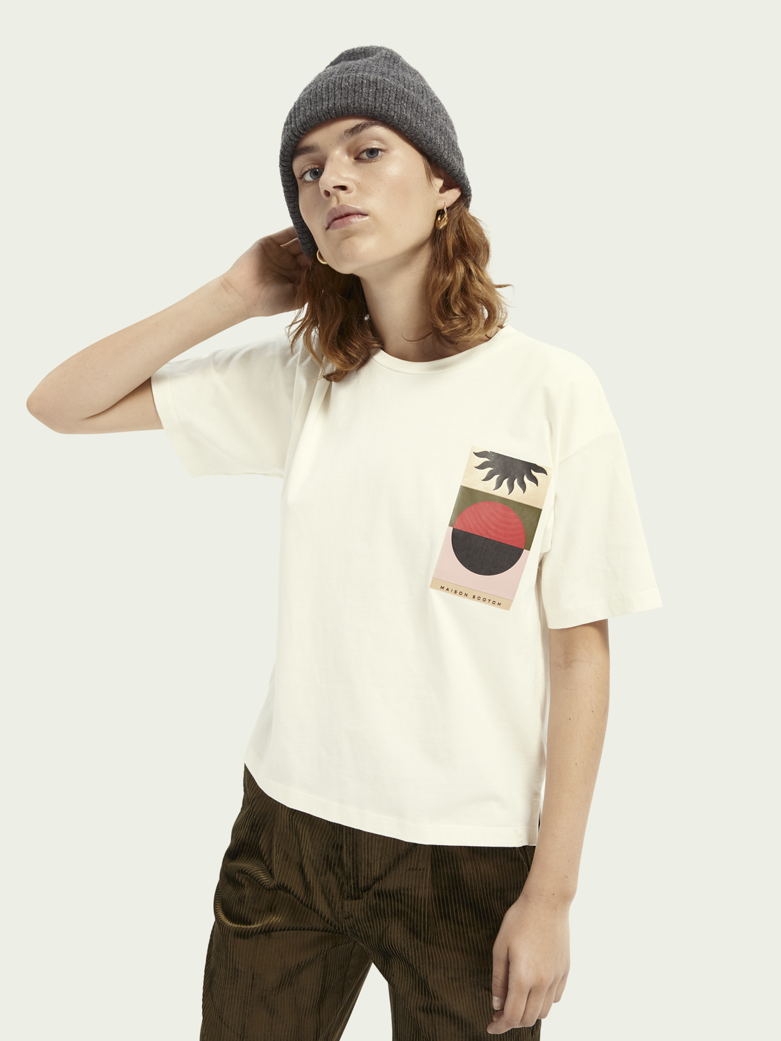 Women Boxy fit artwork T-shirt