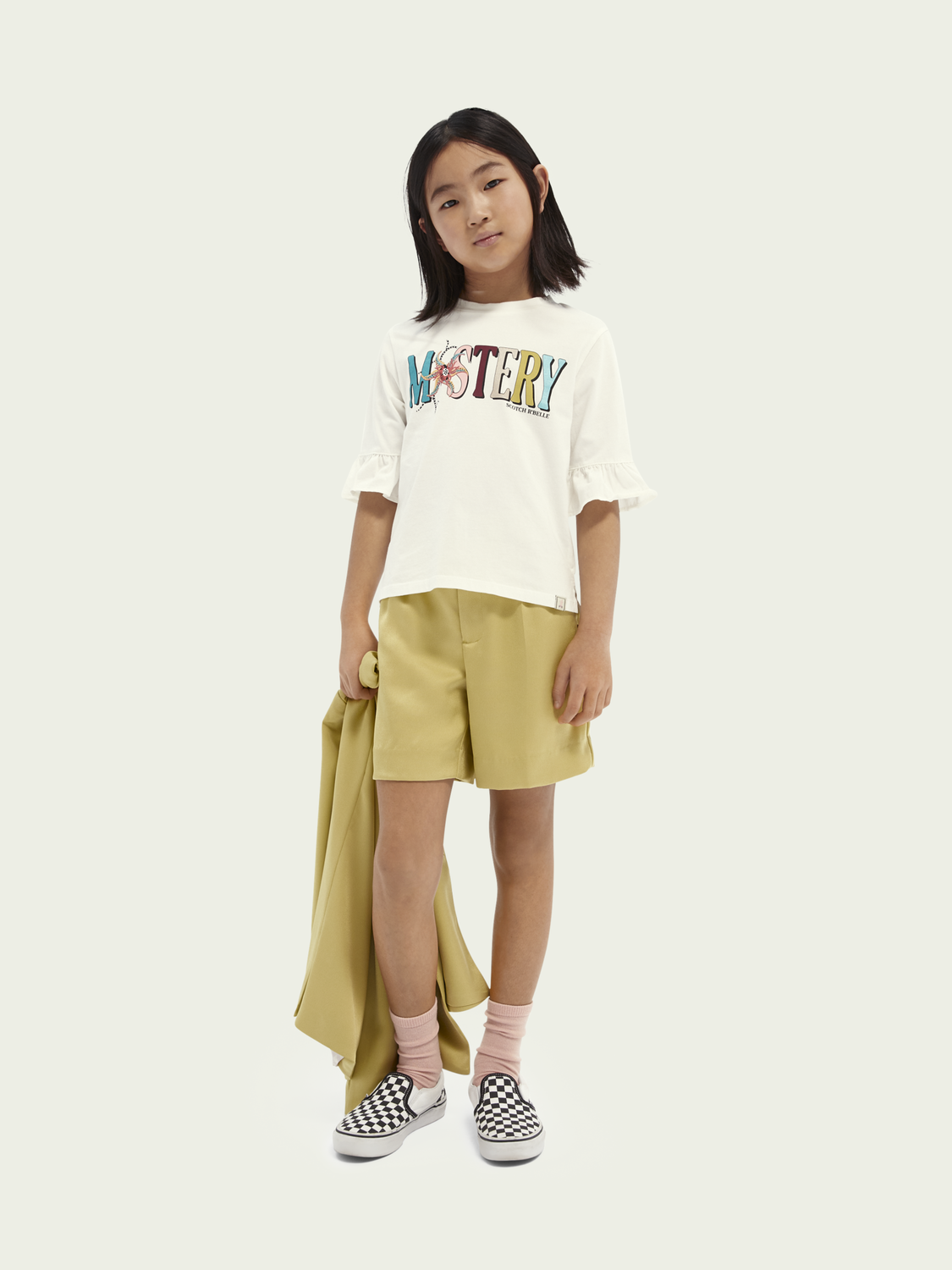 Kids Boxy-fit printed organic cotton T-shirt