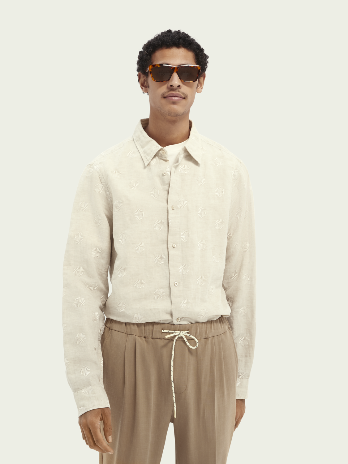 Men Embroidered relaxed-fit shirt