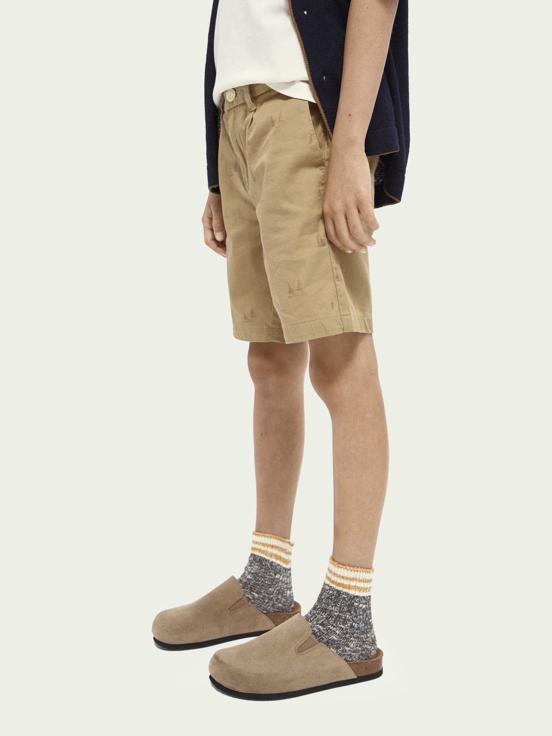 Kids All-over printed chino shorts