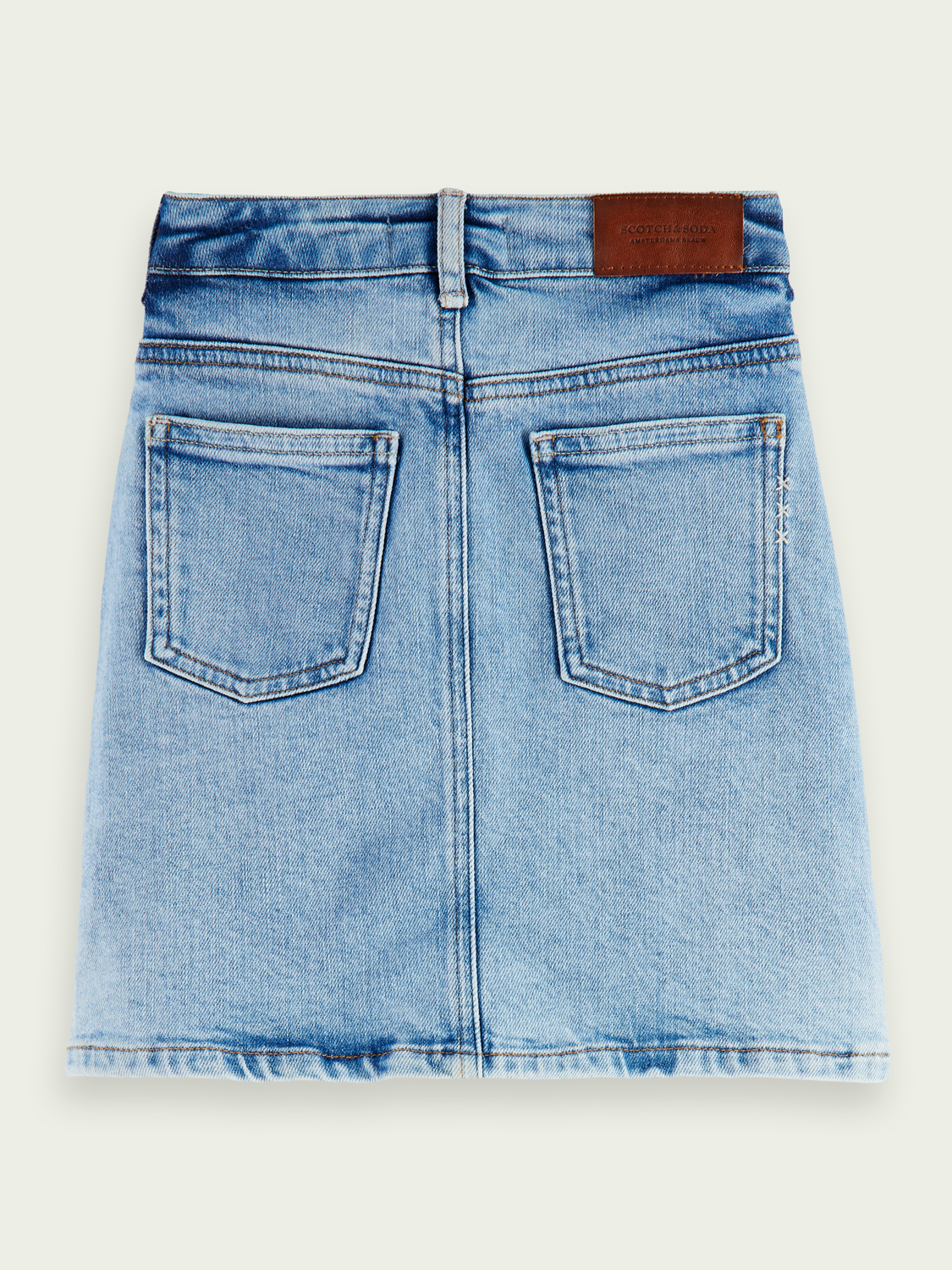 Kinder Mini-Jeansrock aus Bio-Baumwolle – Etched in Blue