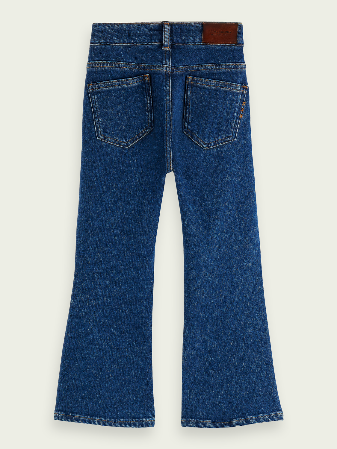 Kinderen The Kick high-rise flared jeans van biologisch katoen – Etched In Blue