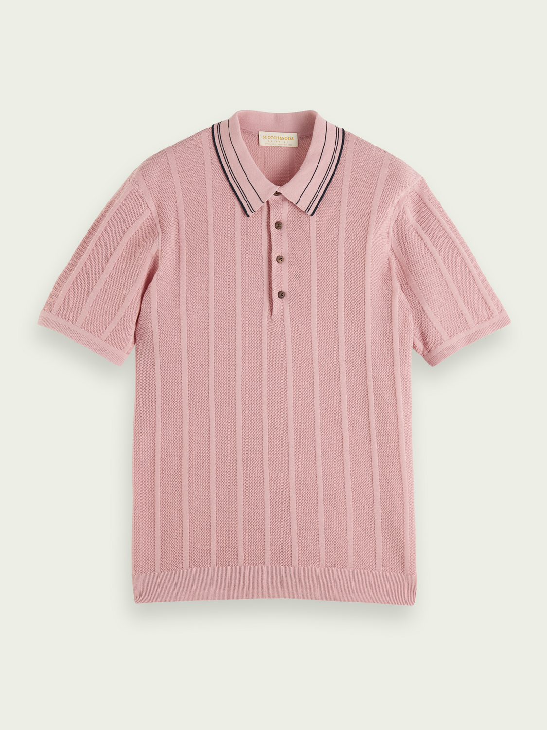 Men Knitted striped polo