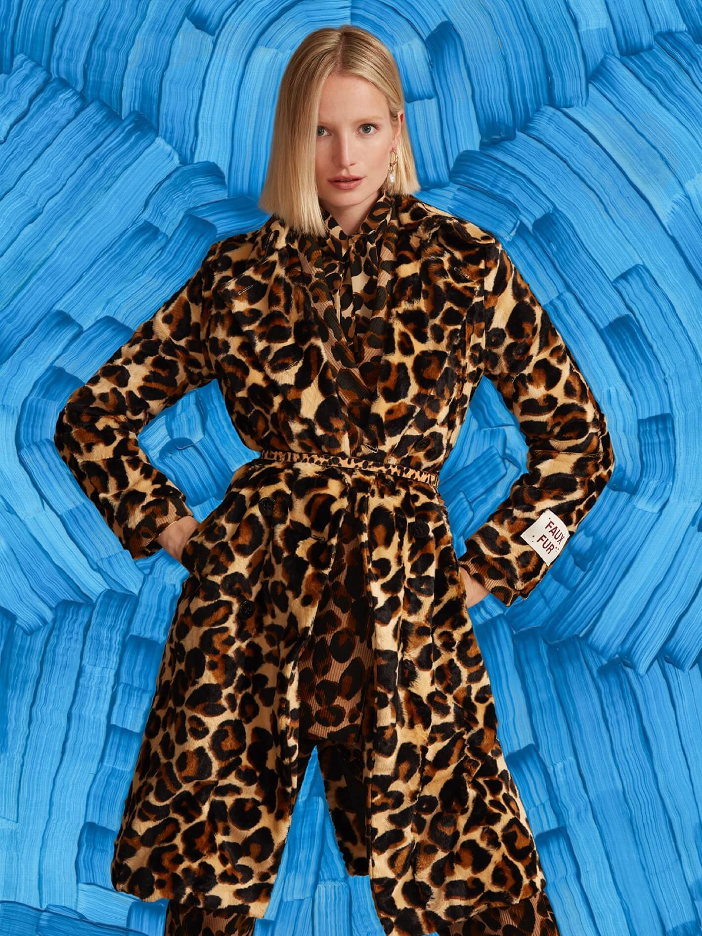 Leopard coat women