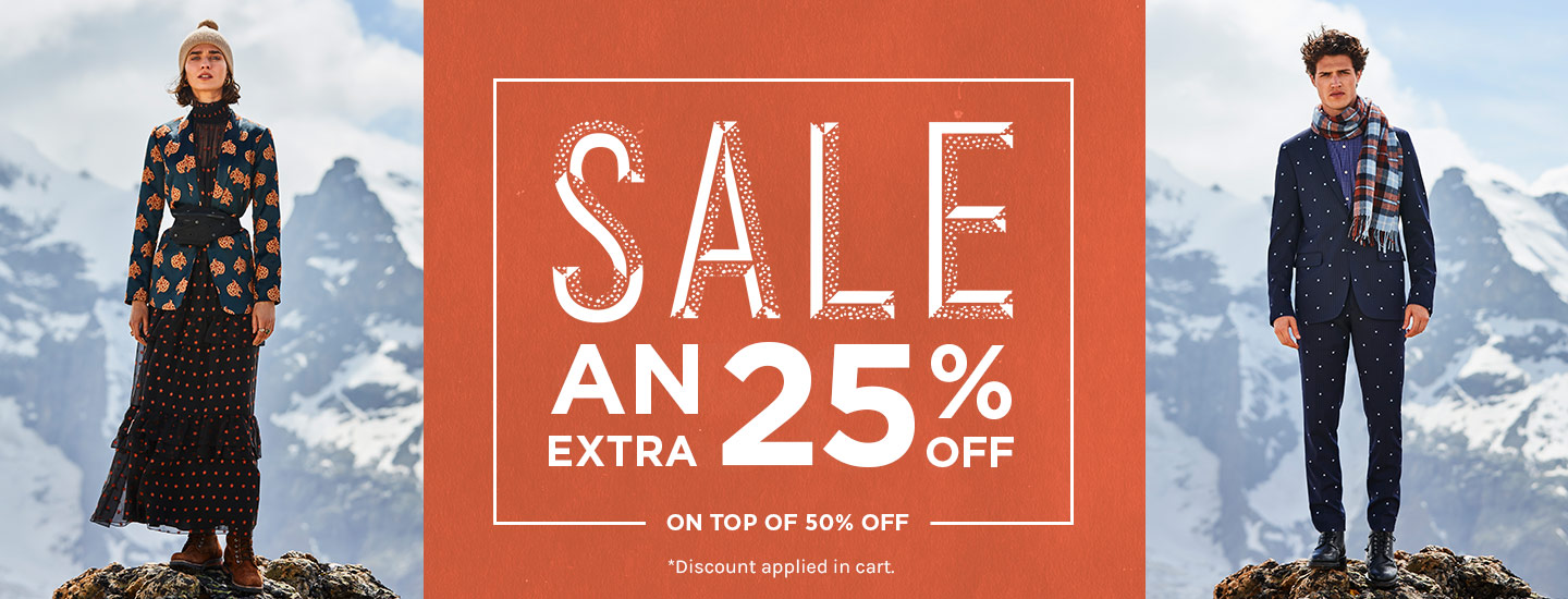50% off plus an extra 25% off sale