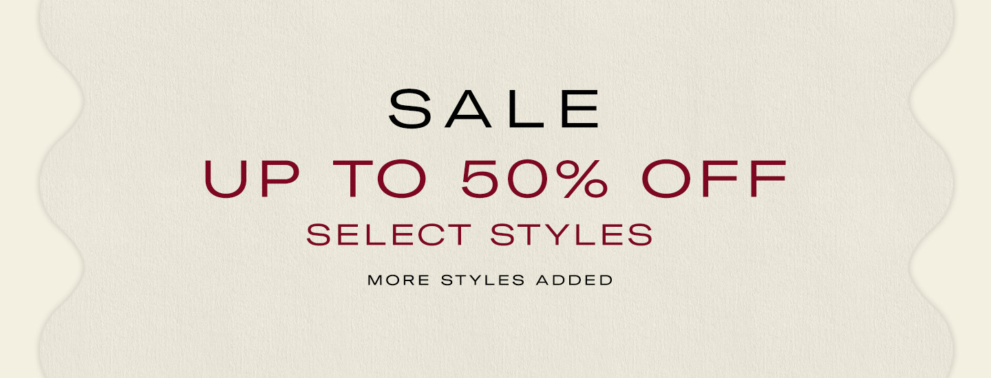 FW19 Sale up to 50% off selected styles