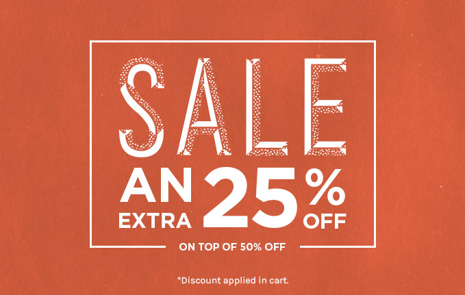 50% off plus an extra 25% off sale women CLP
