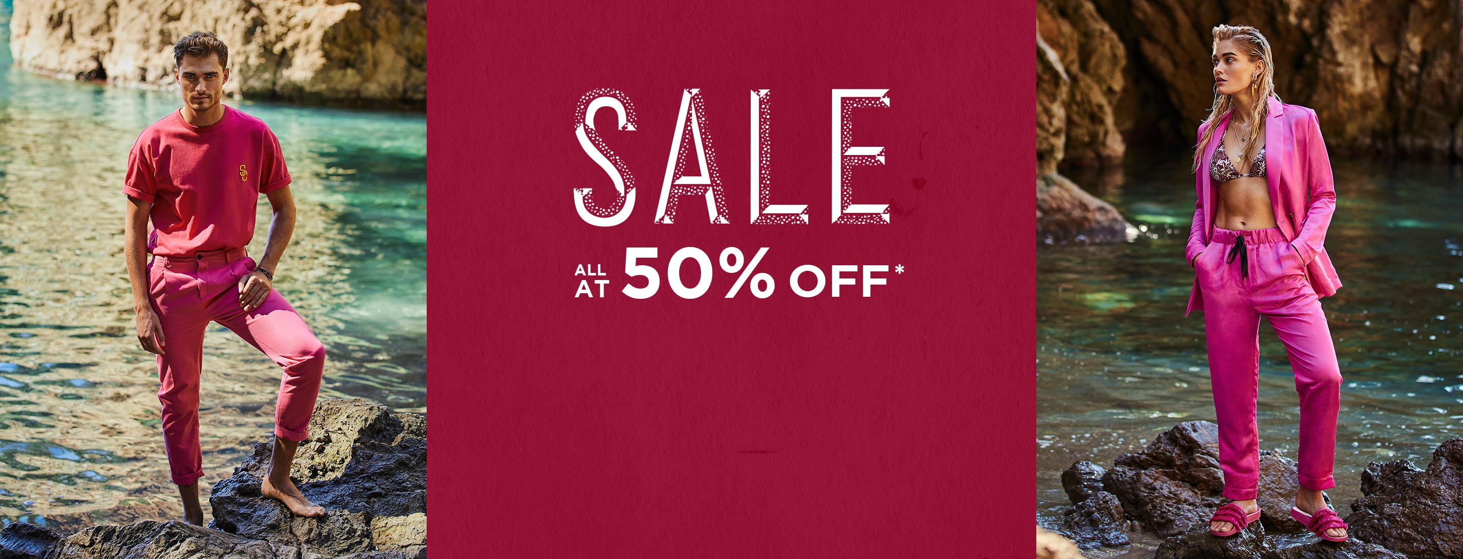 All sale at 50% off